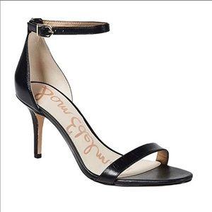 Sam Edelman Patti Ankle Strap Heel Sandal Black 10